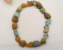 631.5cts turquoise pendant bead strand, nugget turquoise stone necklace, tu
