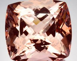 ~JEWELRY GRADE~ 109.90 Cts Natural Morganite Peach Pink Cushion Brazil