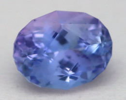 1.42Ct VVS Master Oval Cut Natural Vivid Purplish Blue Tanzanite B2713