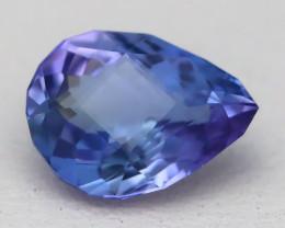 1.28Ct VVS Master Pear Cut Natural Vivid Purplish Blue Tanzanite B2719