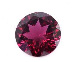 1.40 Crt Beautiful Round Cut Rhodolite Garnet Gemstone
