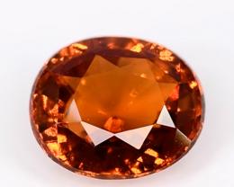 1.85 Crt Beautiful Oval Cut Hessonite Garnet Gemstone