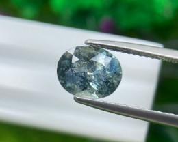 Sapphire 2.82 Cts  Teal Green Portuguese cut BGC1500 | From Tanzania