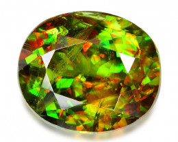 2.45 CT SPHENE WITH DRAMATIC FIRE GEMSTONE SH7