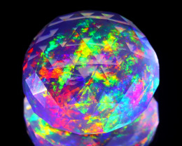 10.28Ct ContraLuz Precision Cut Mexican Very Rare Species Opal C2807