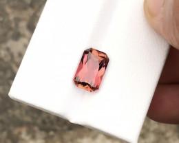 HGTL CERTIFIED 2.60 Ct Natural Brownish Pink Transparent Tourmaline Gemston