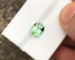 HGTL CERTIFIED 2.04 Ct Natural Green Transparent Tourmaline Ring Size Gemst