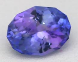 1.52Ct VVS Master Oval Cut Natural Vivid Purplish Blue Tanzanite C2822