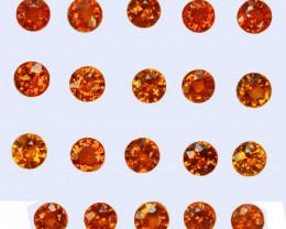 4.58 Cts Natural Fanta Orange Spessartite Garnet Round 3.50mm  Namibia