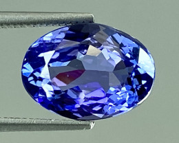 3.25Ct Tanzanite Excellent Cutting Top Luster Quality Gemstone. TN 121