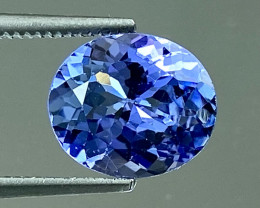 1.97Ct Tanzanite Excellent Cutting Top Luster Quality Gemstone. TN 125