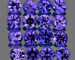 1.90 mm Round 29pcs 0.98ct Violet-Blue Sapphire [VVS]