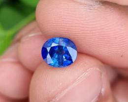 CERTIFIED 1.73 CTS NATURAL STUNNING CORNFLOWER BLUE SAPPHIRE SRI LANKA