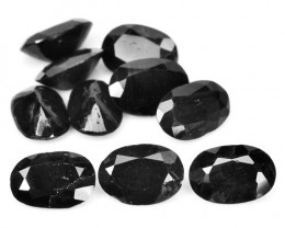*NoReserve*Sapphire 8.06 Cts 10Pcs Natural Fancy Black Color Gemstones