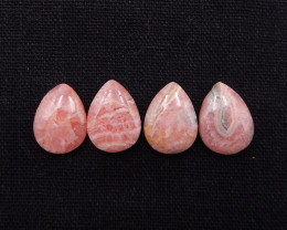 31.5cts 4pcs argentina rhodochrosite gemstones,water drop gemstones h2048