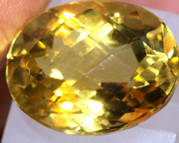 14.9 CTS   CITRINE  FACETED GEMSTONE CG-3367