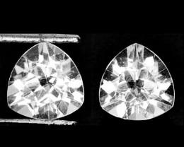 ~UNHEATED~ 5.88 Cts Natural Sparkling White Topaz 9mm Trillion Cut Braz