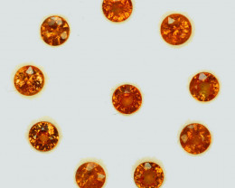 2.45 Cts Natural Fanta Orange Spessartite Garnet 3.5mm Round  Namibia