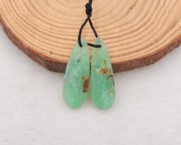 21cts water drop chrysoprase earrings pair, natural gemstone earrings h2069