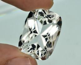 35.25 Carat Natural Flower Cut Aquamarine Gemstone