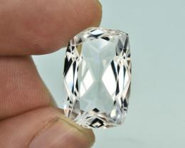 16.80 Carat Natural Flower Cut Aquamarine Gemstone