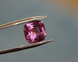 Clean ! 1.47ct Cert ! Spinel !!! Purple-Pink