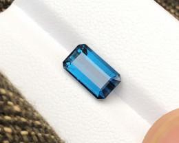 2.40 Ct Natural Blue Transparent Indicolite Tourmaline Gemstone