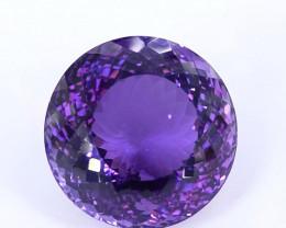 70.10 Crt Beautiful Round Cut Amethyst Gemstone