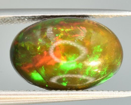 3.24 CTS Top Welo Fire Black Opal Cabochon