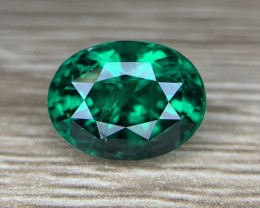 AIGS certified Natural vivid Green Emerald Gemstone.