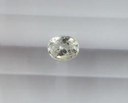 0.54ct unheated white sapphire