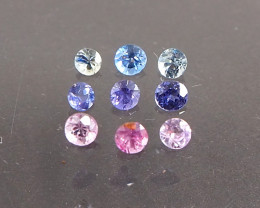1.03ct unheated sapphires