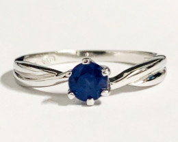 Modern Blue Sapphire Sterling Silver 925 Ring