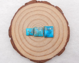 10cts 3 pcs lucky turquoise ,handmade gemstone ,turquoise cabochons h2098