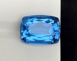 13 carats aqua^ ghoshnite deep color gemstone