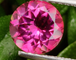4.35 CTS SUPERIOR! TOP QUALITY 10.13 MM ROUND CUT HOT PINK-TOPAZ GENUINE NR