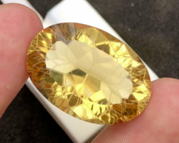 Flower Cut Splendid Color 46.80Ct Gorgeous Color Natural Citrine