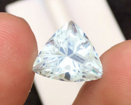 Aquamarine 5.30 Ct Beautiful Flower Cut 100% Natural