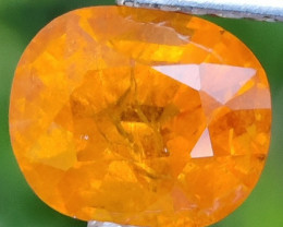 3.15 CTS MARVELOUS NATURAL TOP FANTA-ORANGE OVAL SPESSARTITE  DAZZLING GEM!