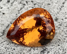 23.54 CT TOPAZ IMPERIAL 100% CLEAN NATURAL UNHEATED AIGS  CERTIFIED
