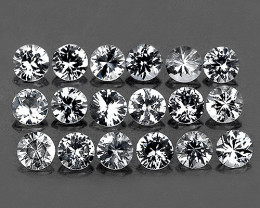 1.00 mm Round 100 pcs 0.71ct White Zircon [VVS]
