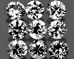 2.70 mm Round 9 pcs 1.23ct White Zircon [VVS]