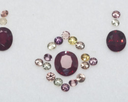 3 Rubies and 20 Sapphires for jewelry TCW 1.77