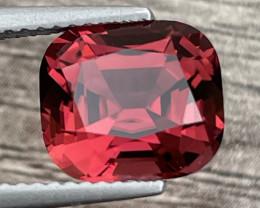 3.77ct natural orangy pink tourmaline gemstone
