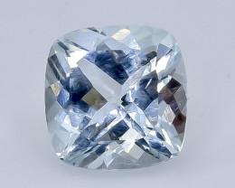 2.13 Crt Natural Aquamarine Faceted Gemstone.( AB 19)