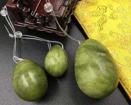 Yongi 3 pc jade Egg Wand set AHA 565
