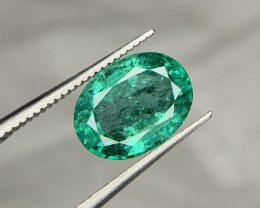 Certified 2.85 carat Natural Emerald Gemstone.
