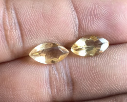 Citrine Gemstone Pair 100% Natural Gemstone VA5972