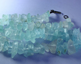 NR!!! 467.80 Cts Natural & Unheated~ Rough Aquamarine Beads String