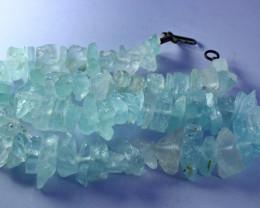 NR!!! 467.80 Cts Natural & Unheated~ Rough Aquamarine Beads String